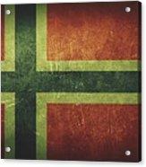 Norway Distressed Flag Dehner Acrylic Print