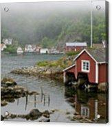 Norway, Fishing Village Acrylic Print