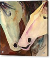 Nose To Nose Acrylic Print
