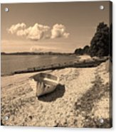 Nostalgia Boat On Beach Acrylic Print