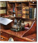 Nostalgia Office 2 Acrylic Print by Bob Christopher
