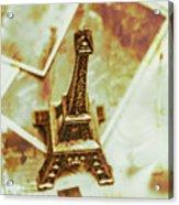 Nostalgic Mementos Of A Paris Trip Acrylic Print