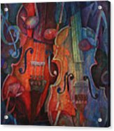 Noteworthy - A Viola Duo Acrylic Print by Susanne Clark