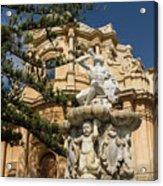 Noto Sicilian Baroque - Church Of San Domenico On A Bright Sunny Day Acrylic Print