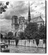 Notre Dame And Seine Acrylic Print