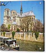 Notre Dame And The Seine Acrylic Print