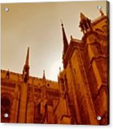 Notre Dame At Sunset Acrylic Print