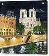 Notre Dame Acrylic Print by Bruce Schmalfuss