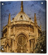 Paris, France - Notre-dame De Paris - Apse Acrylic Print