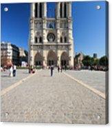 Notre Dame De Paris Cathedral Acrylic Print