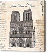 Notre Dame De Paris Acrylic Print