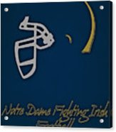 Notre Dame Fighting Irish Helmet Acrylic Print