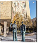 Notre Dame Library And Statue Acrylic Print