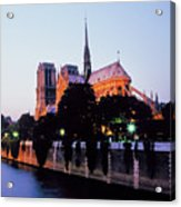 Notre Dame On The Seine Acrylic Print