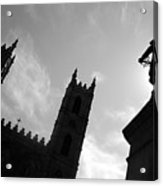 Notre Dame Silhouette Acrylic Print