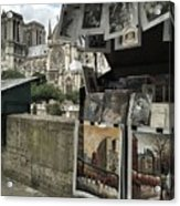 Notre Dame Street Art Acrylic Print