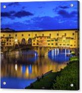 Notte A Ponte Vecchio Acrylic Print