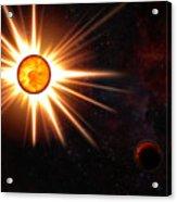 Nova And Dead Star Acrylic Print