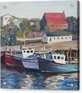 Nova Scotia Boats Acrylic Print