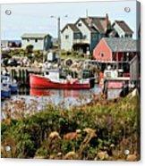 Nova Scotia Fishing Community Acrylic Print