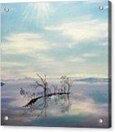 November On A Bavarian Lake Acrylic Print by Helmut Rottler