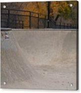 November Skatescape #4 Acrylic Print