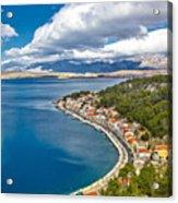 Novigrad Dalmatinski Fishermen Village Bay Acrylic Print