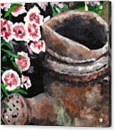 Now Its Yard Art Acrylic Print