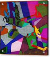 Nu Wall Graffiti Horns In The Landscape Of Sound/tony Adamo Acrylic Print