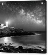 Nubble At Night Acrylic Print