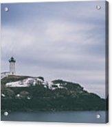 Nubble Lighthouse Overcast  Acrylic Print