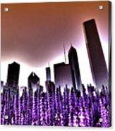 Nuclear Chicago Skyline Acrylic Print
