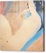 Nude 22 Acrylic Print by Alex Rahav