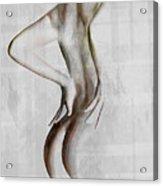 Nude Abstract Greys 2 Acrylic Print