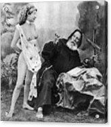 Nude And Monk, C1895 Acrylic Print