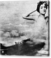 Nude As Mermaid, 1890s Acrylic Print