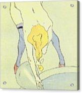 Nude Bathing Acrylic Print