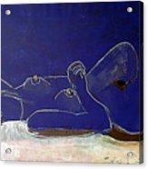 Nude Blue Acrylic Print