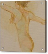 Nude Dancer Acrylic Print
