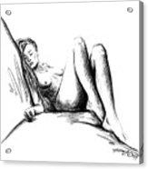 Nude Female Figure Acrylic Print