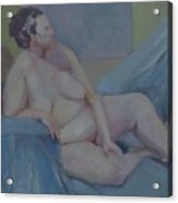Nude In Blue                Copyrighted Acrylic Print