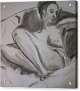 Nude In Chair Acrylic Print