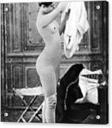 Nude In Stockings, C1880 Acrylic Print