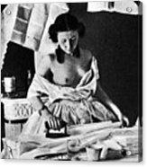 Nude Ironing, C1861 Acrylic Print