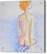 Nude Lady Acrylic Print