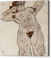 Nude Lying Down Acrylic Print