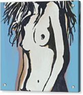 Nude - Pop Art Etching Style  Poster 6 Acrylic Print