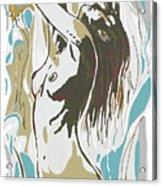 Nude Pop Art Stylised Poster Acrylic Print