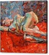 Nude Portrait Of Mary Acrylic Print