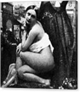 Nude Posing, C1843 Acrylic Print